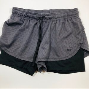 Champion work out shorts with spandex made in